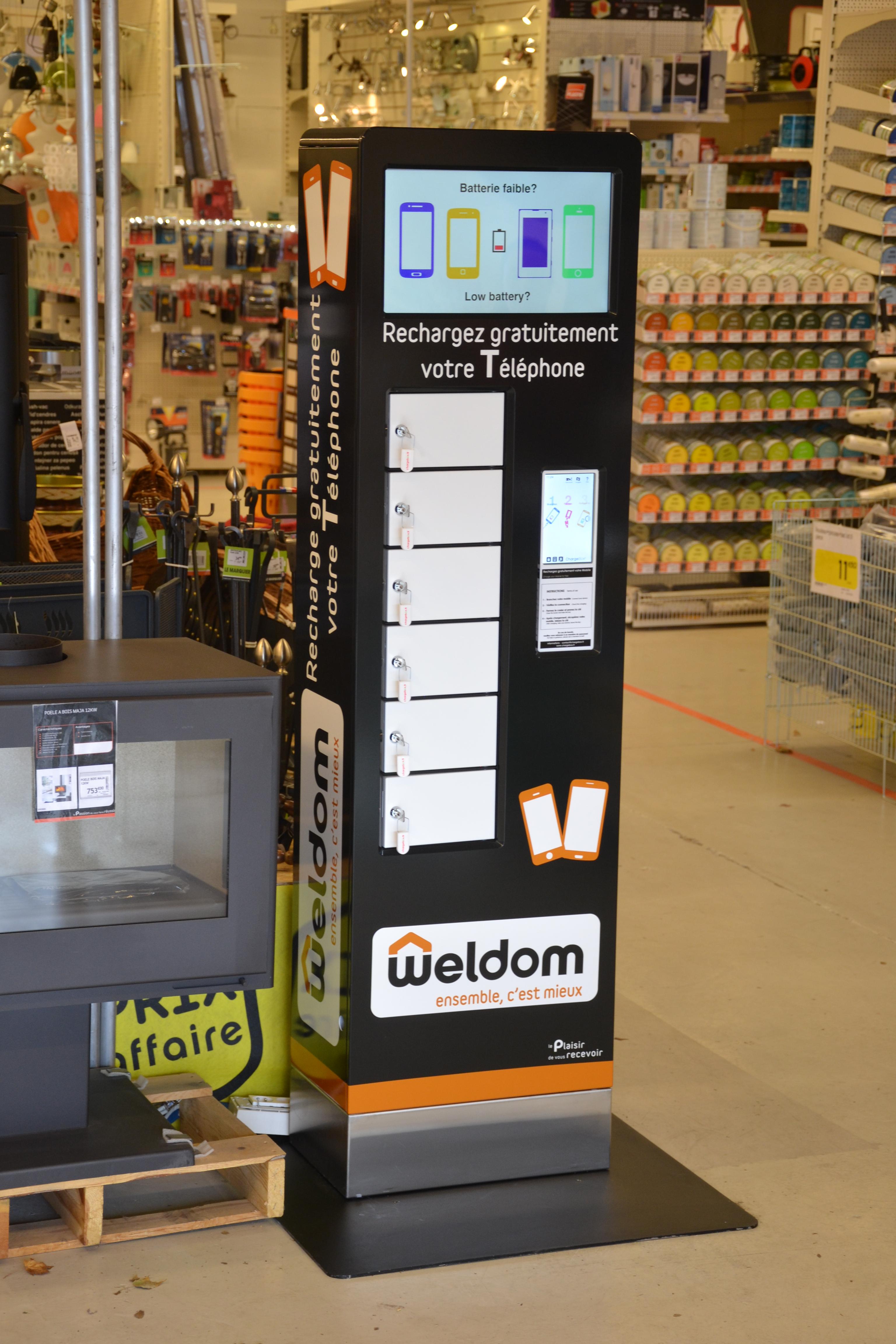 ChargeBox Weldom entrée client
