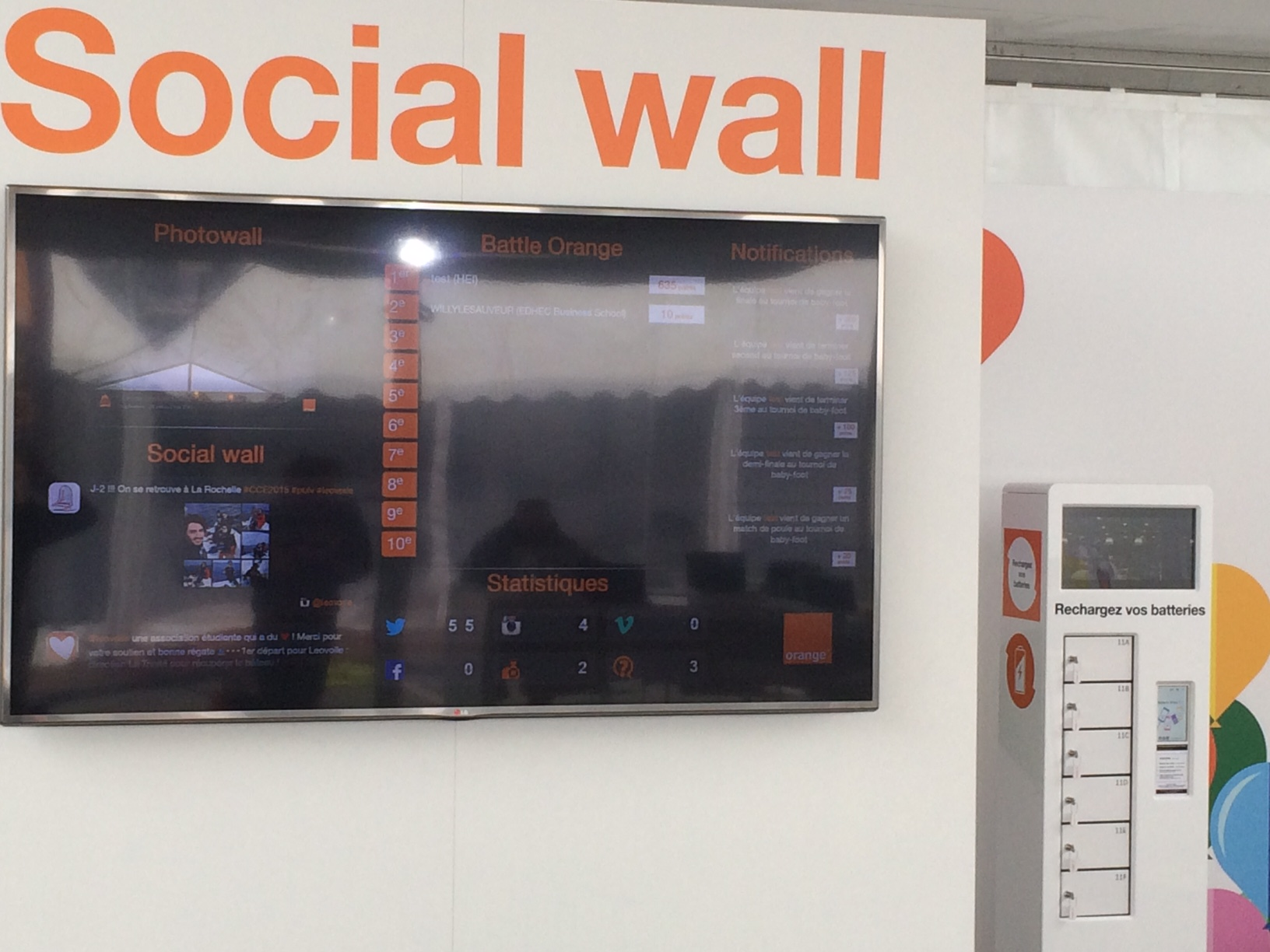 Orange Habillage  avec Social Wall ORANGE