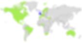 Carte mondial du leader du Service de Bornes de rechargmen des téléphones mobiles, smartphones et tablettes