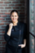 Chef Antonia Lofaso wearing Chefletics chefwear