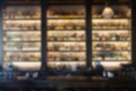 Fully stocked bar at italian restaurant