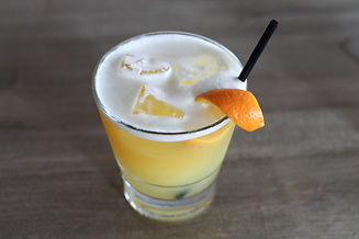 Drink garnished with citrus