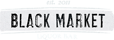 Black Market Liquor Bar Logo