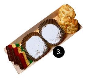 Italian pogolis and wedding cookies