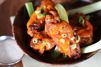 Chicken wings in a bowl
