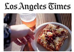 food on a plate from the Los Angeles Times