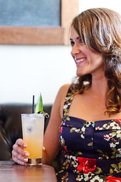 Woman enjoying a cocktail