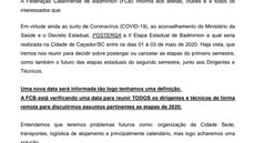 COMUNICADO IMPORTANTE II ETAPA POSTERGADA