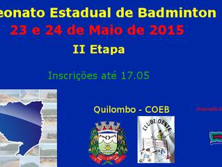 II Etapa do Campeonato Estadual 2015