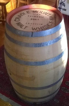 Cradle Mountain Whisky barrel