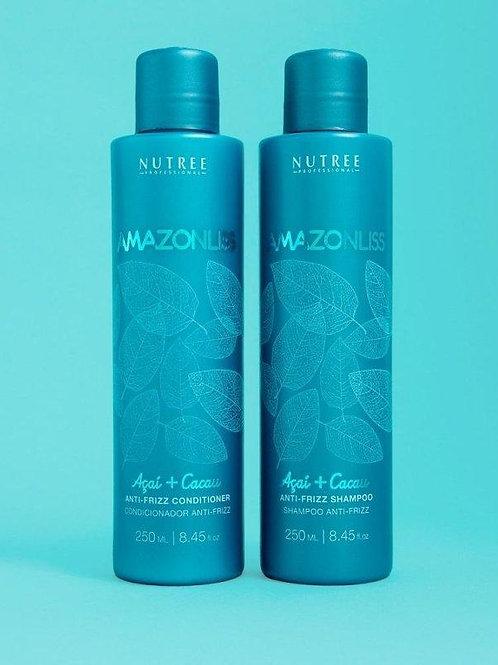 Amazonliss Anti Frizz Shampoo and Conditioner Set 8.45 fl.oz