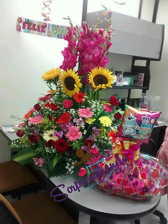 Sorpresa con Flores, Merienda sorprendiendo, sorprendiendo, regalos para aniversario