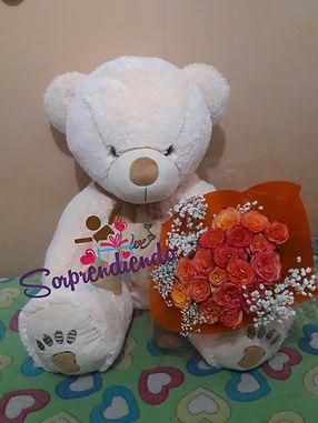 sorprendiendo, peluche y flores, regalos de amor