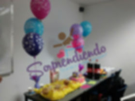 Fiesta Portatil, detalle cumpleaños