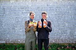 farmer women organic carrots tomatoes