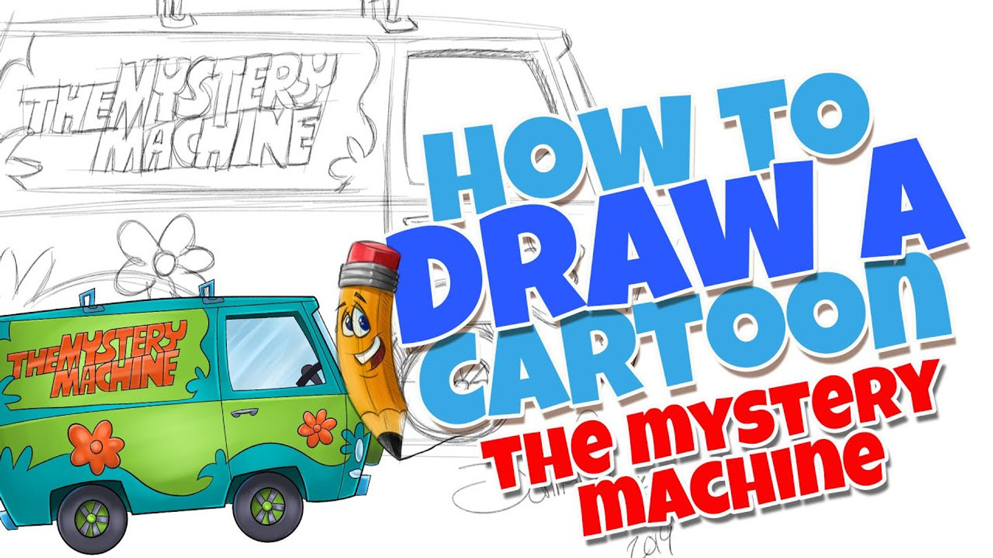 How to draw cartoons the mystery machine