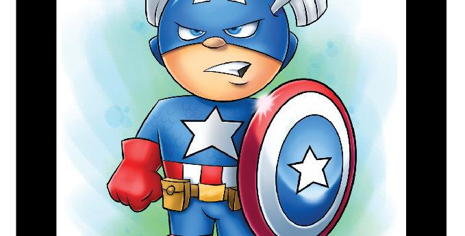 7 x 7 Captain America