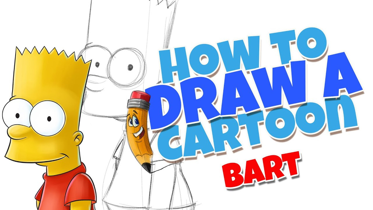 How to draw cartoons Bart