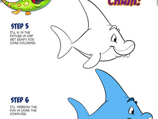 Learn to draw a FriendFish