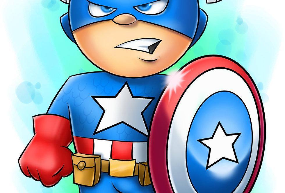6 x 6 Captain America sign print
