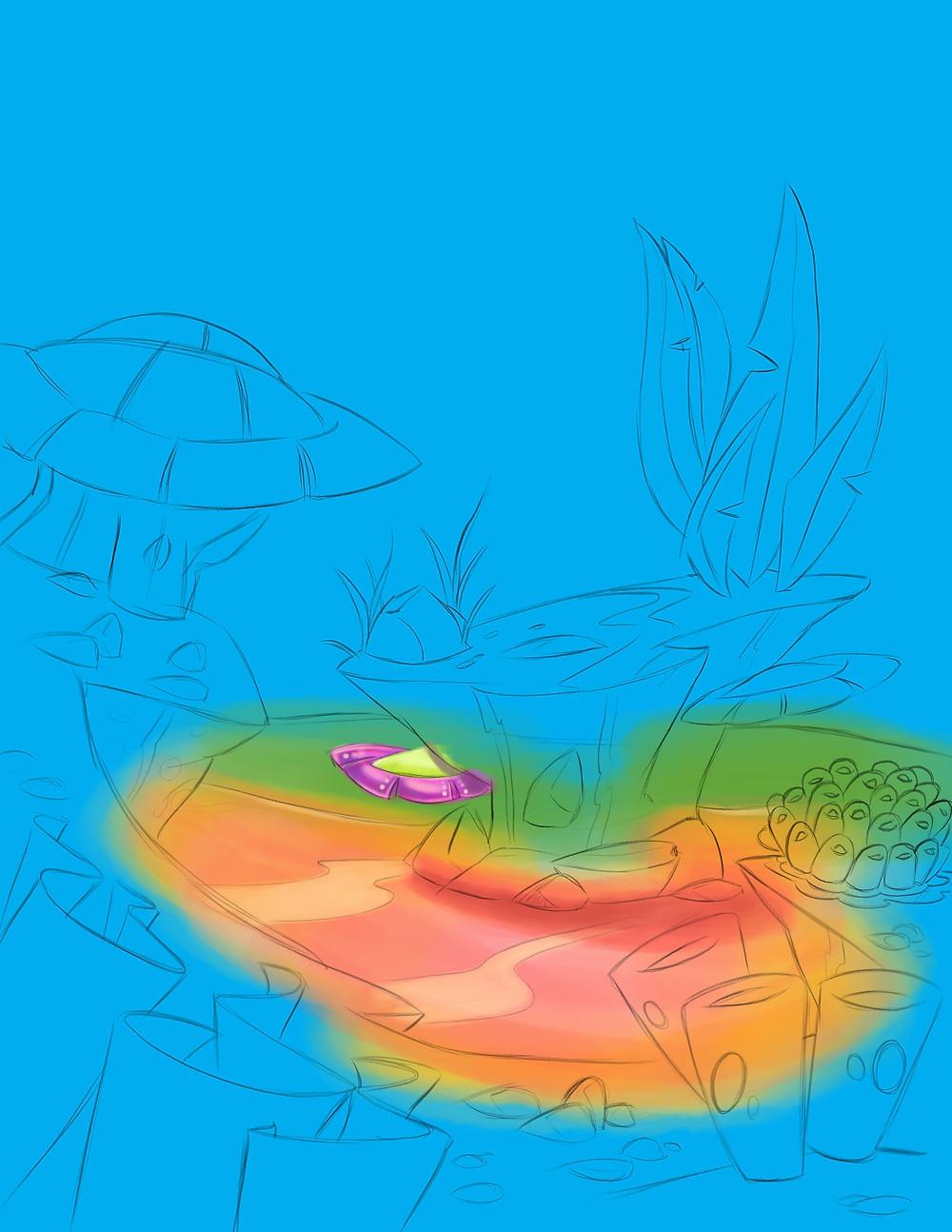 Background art for FriendFish