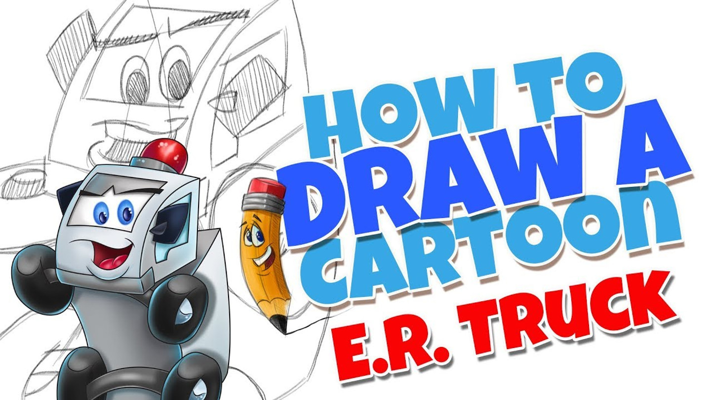 How to draw cartoons E.R. Truck