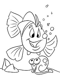 FriendFish coloring page