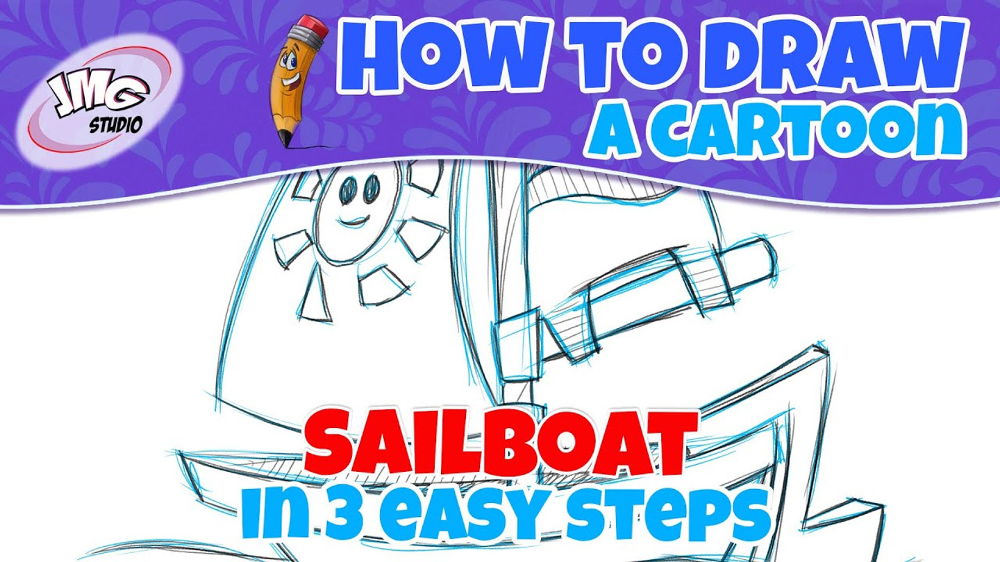 How To Draw a cartoon boat