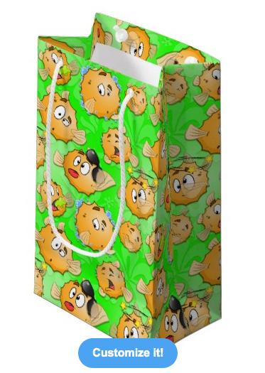 Green Puff gift bag