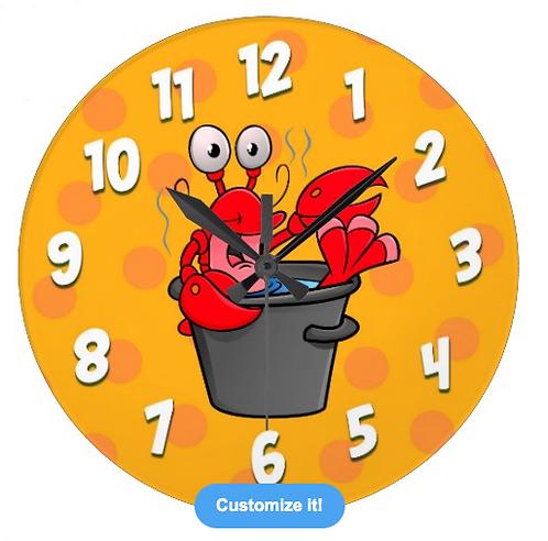 Hot lobster clock