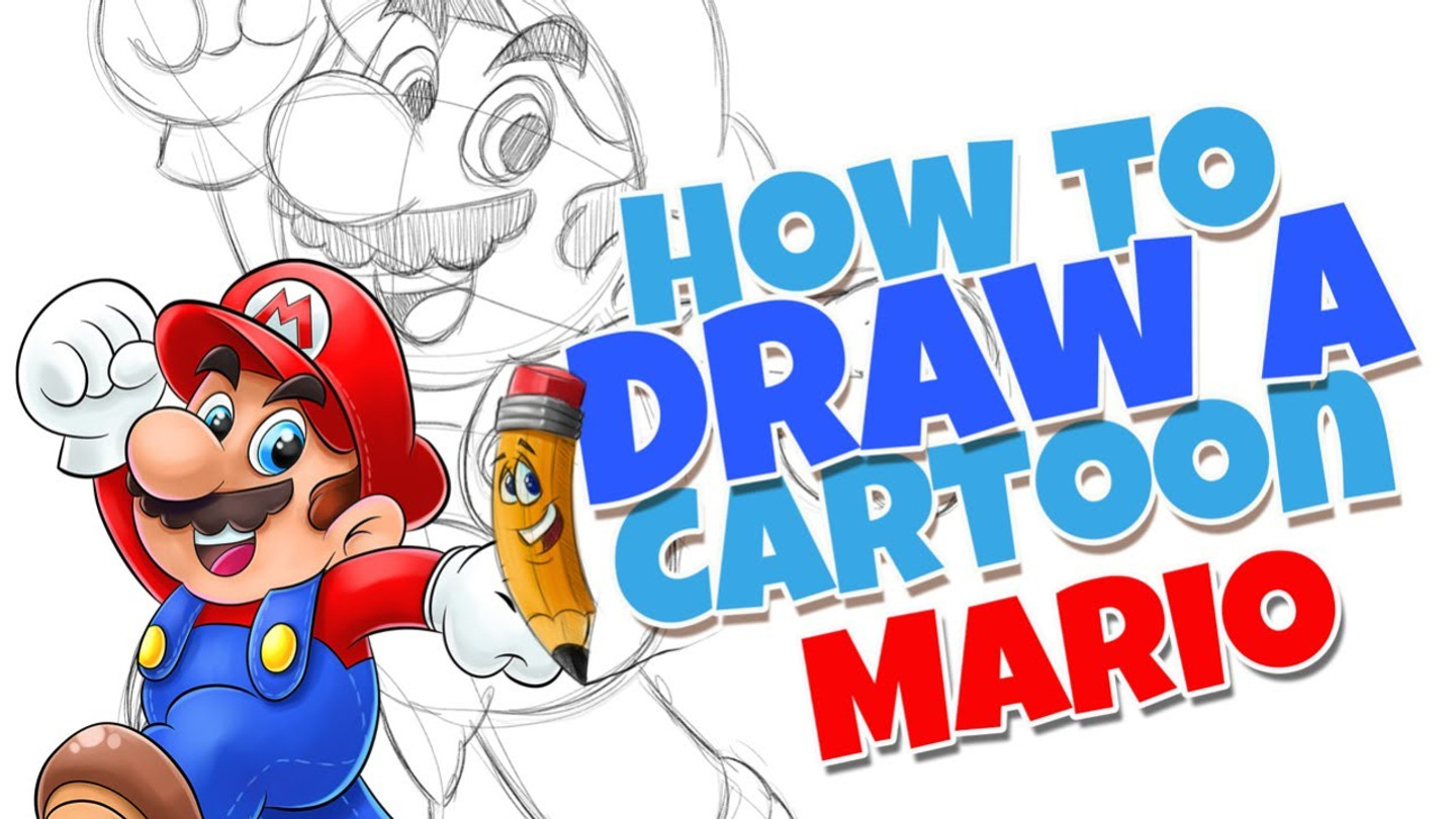 How to draw cartoons Mario