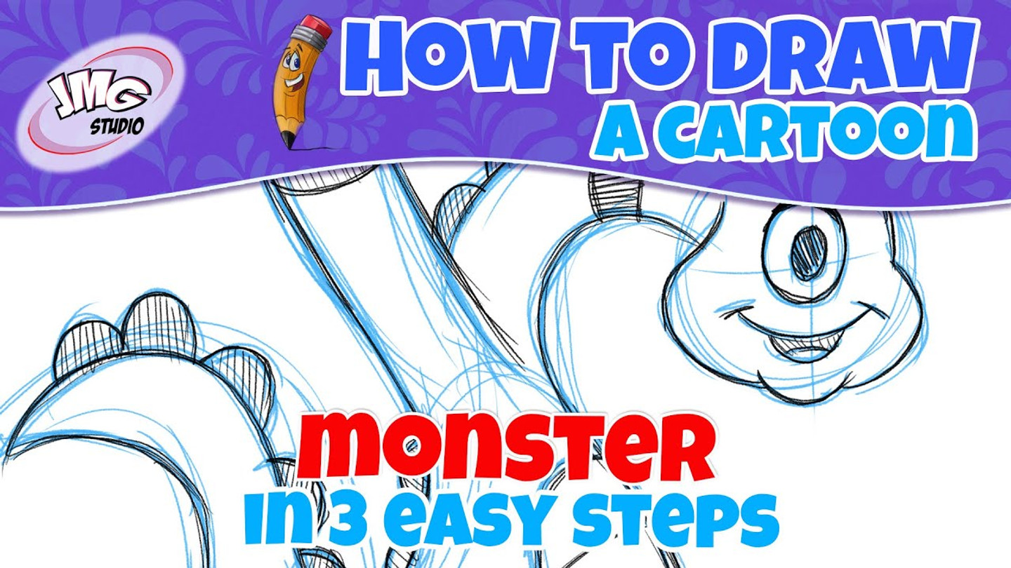How To Draw a cartoon monster