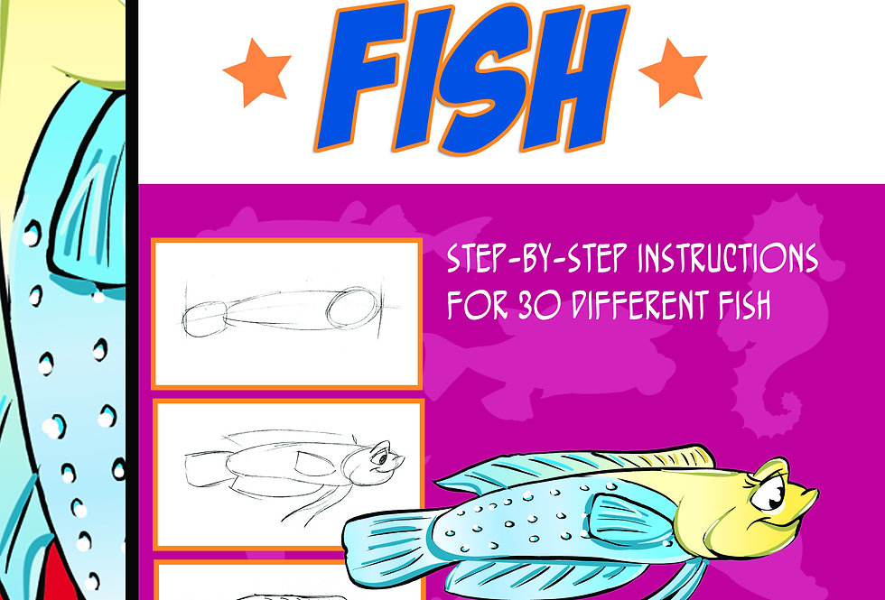 How to draw fish-Digital