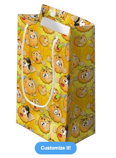 Yellow Puff gift bag