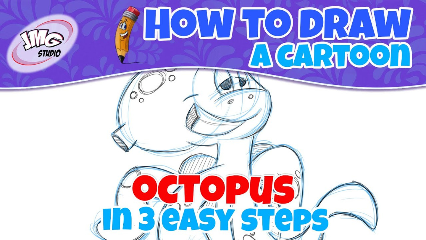 How To Draw a cartoon octopus