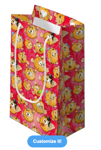 Red Puff gift bag
