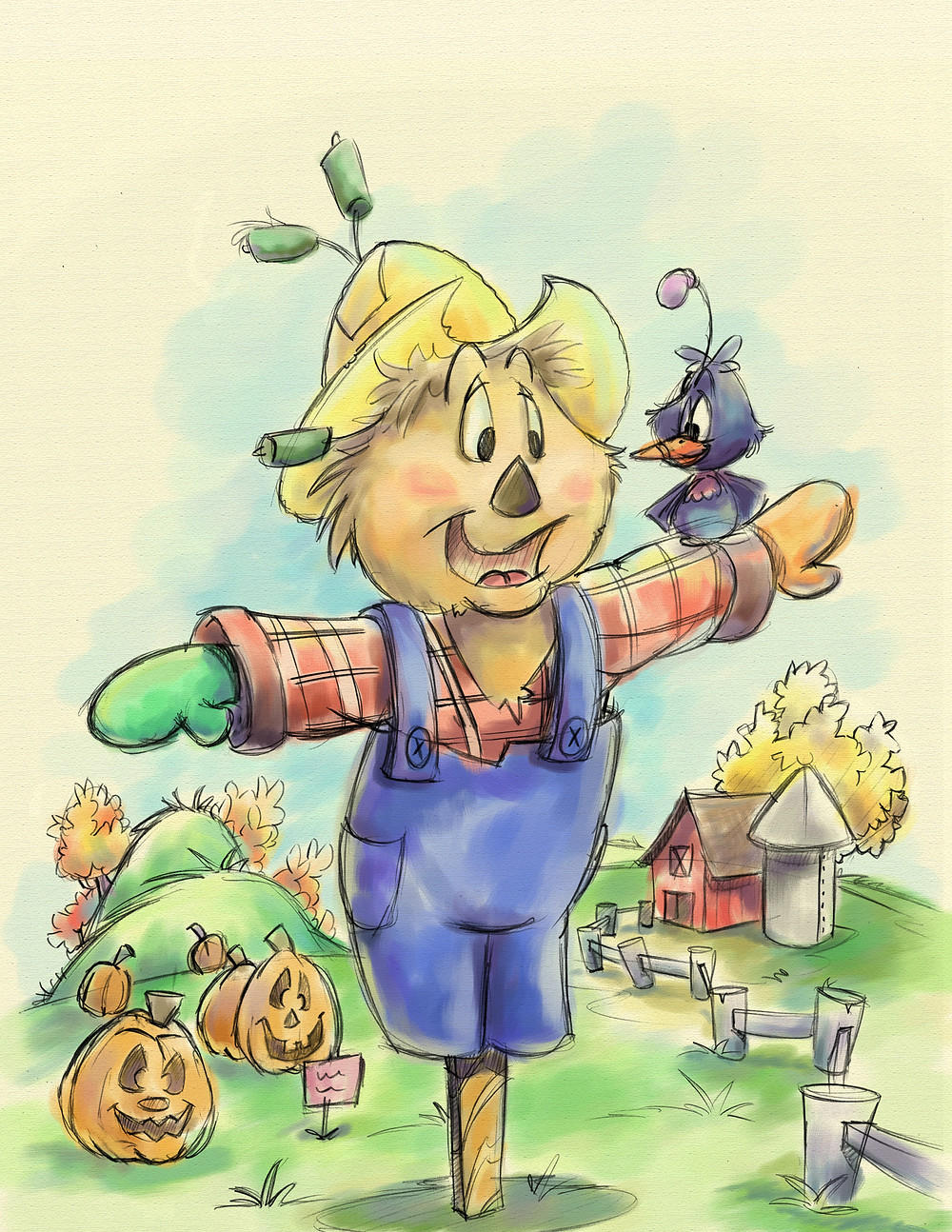 Scarecrow art by John-Marc Grob