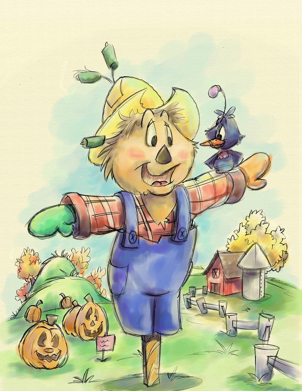 Scarecrow art by John-Marc Grob