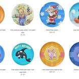 Custom made kids plates