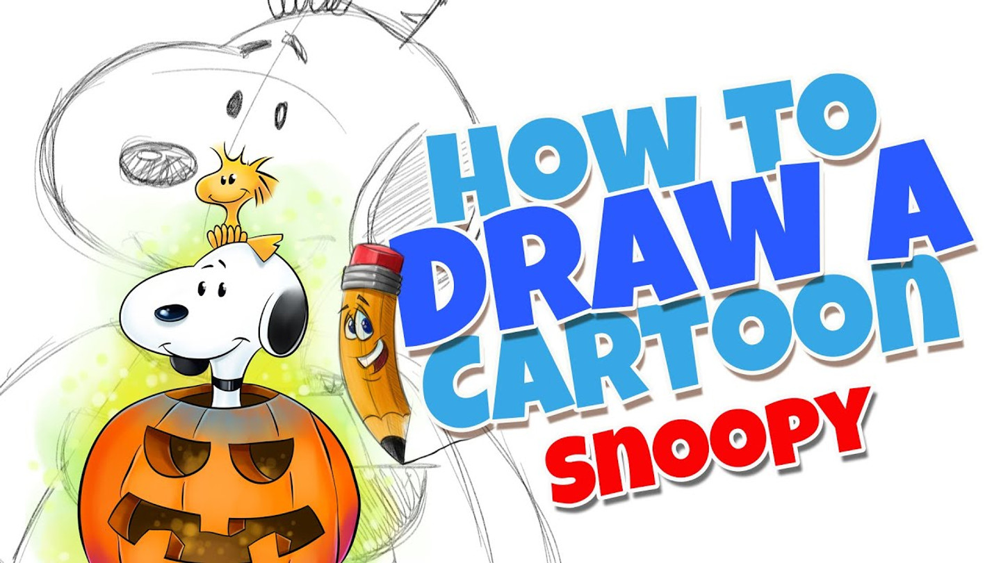 How to draw cartoons Snoopy