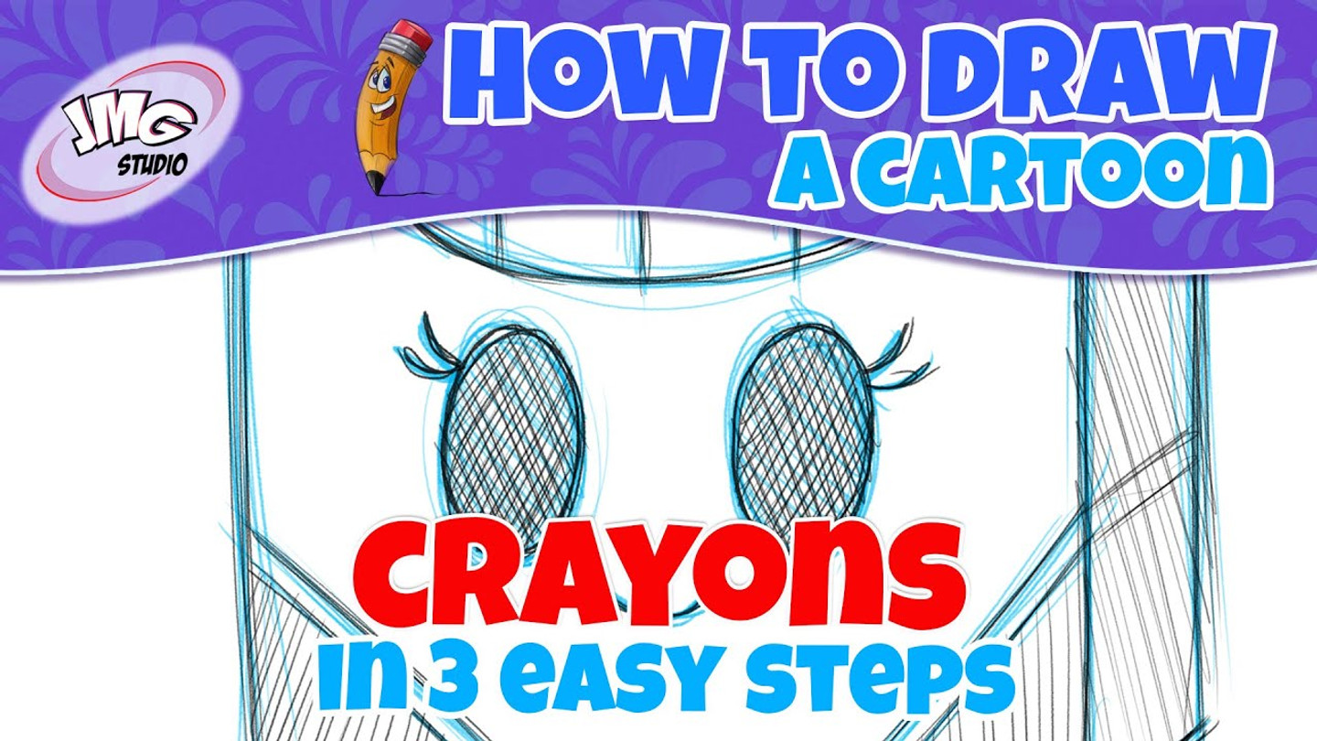 How To Draw a crayon box