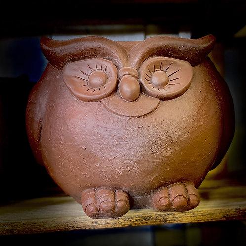 Brown owl planter