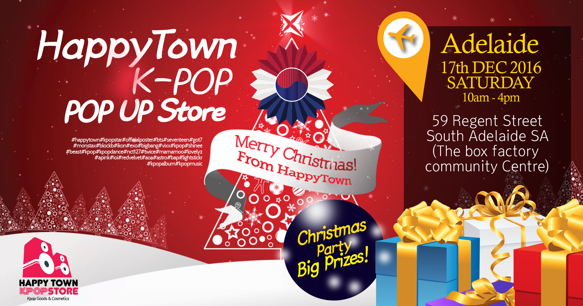 X-mas POP UP STORE* in ADELAIDE | HappyTown | Kpop Store in Melbourne