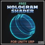 Free Hologram Shader for Unity URP Squar