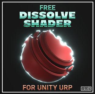 Free Dissolve Shader for Unity URP Squar