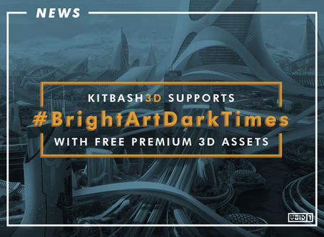 KITBASH3D Offering Premium 3D Game Assets For FREE