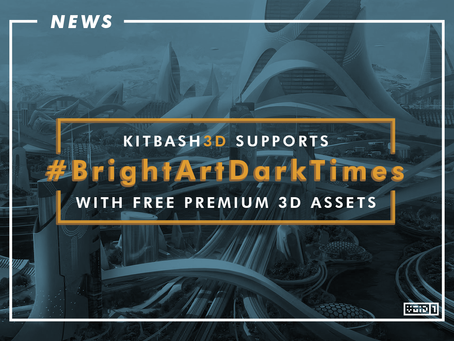 KITBASH3D Offering Premium 3D Game Assets For FREE