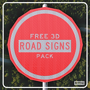 FREE 3D Road Signs Pack Square.png