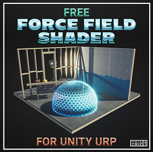 Free Force Field Shader for Unity URP Sq