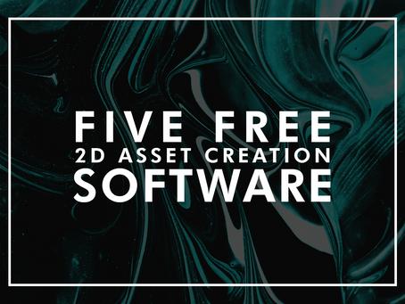 Five Free 2D asset creation software